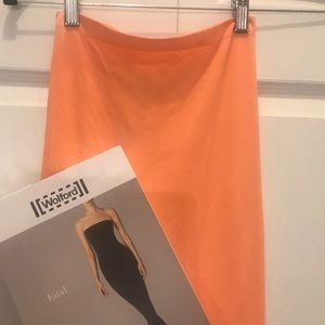 Wolford orange fatal dress size xs